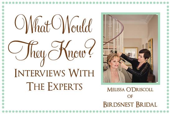 Birdsnest Bridal What Would They Know? Melissa ODriscoll of Birdsnest Bridal