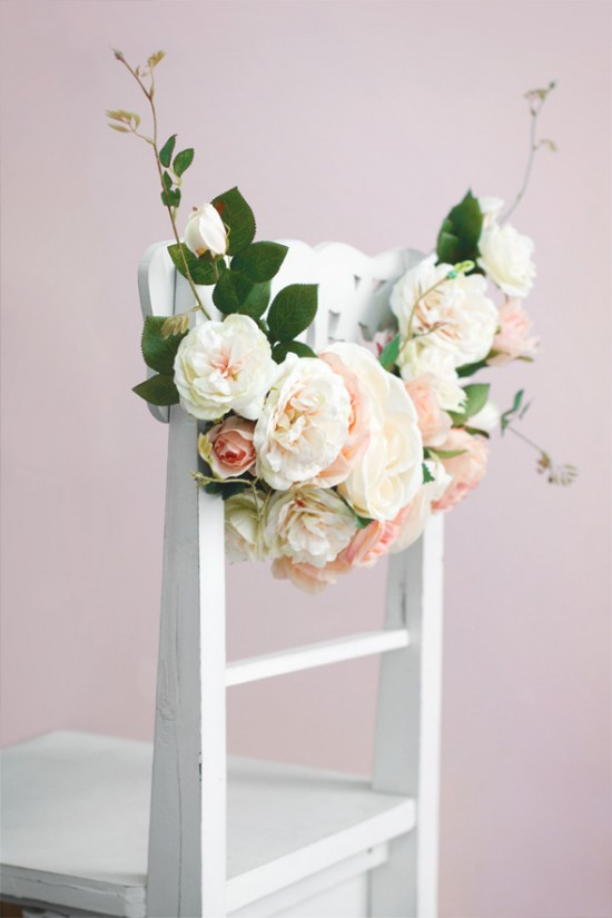 Floral Chair Garland