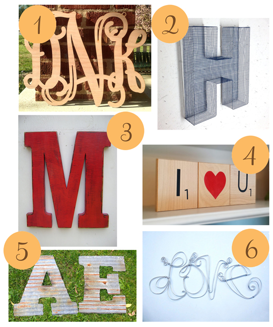Letters Etsy Roundup Letters for Weddings