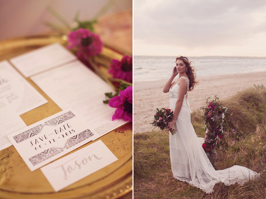 Luxe Beach Wedding Inspiration0002 Luxe Vintage Beach Wedding Inspiration