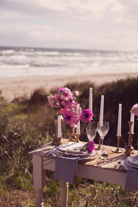 Luxe Beach Wedding Inspiration0014 Luxe Vintage Beach Wedding Inspiration