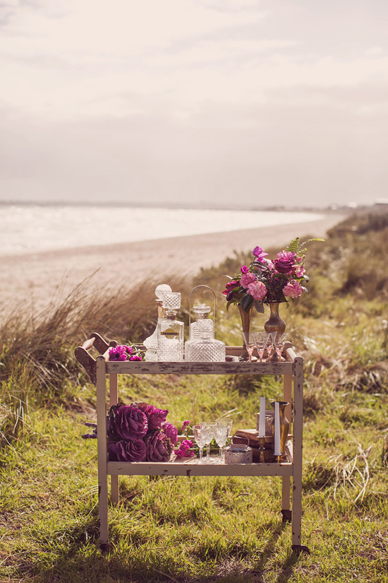 Luxe Beach Wedding Inspiration0015 Luxe Vintage Beach Wedding Inspiration