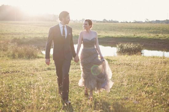 gray wedding dress2446