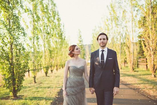 gray wedding dress2450