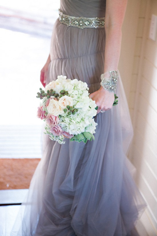 grey wedding dress2353