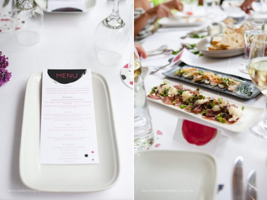 menu ideas 550x411 Will You Be My Bridesmaid Party!