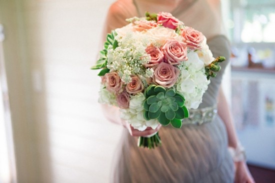 succulent wedding bouquet2354