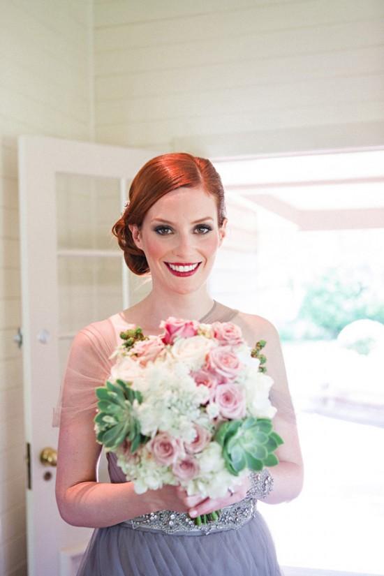 succulent wedding bouquet2355