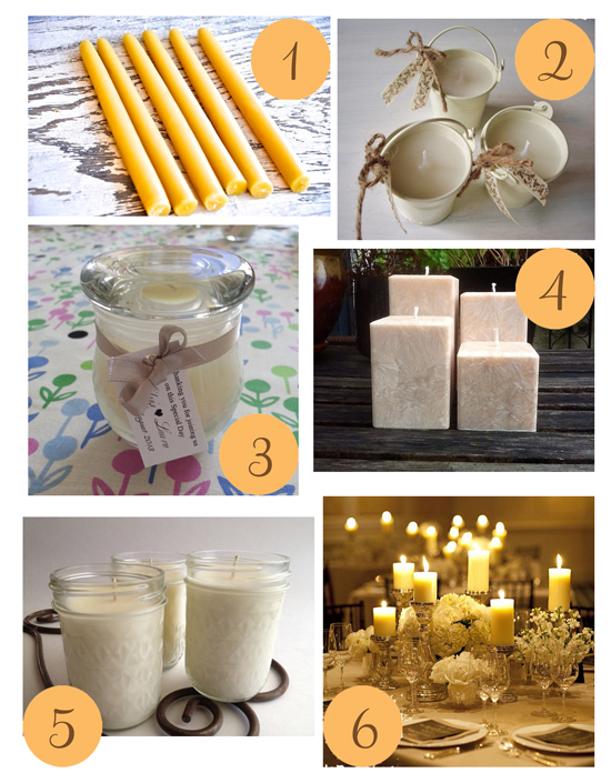 Candles for Weddings Etsy Roundup Candles for Weddings