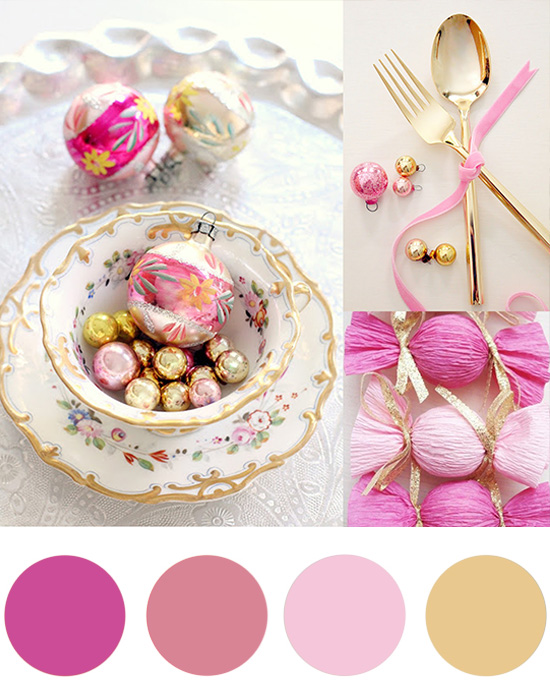Christmas Colour Palette Candy Pink And Gold Christmas Colour Palette Candy Pink & Gold