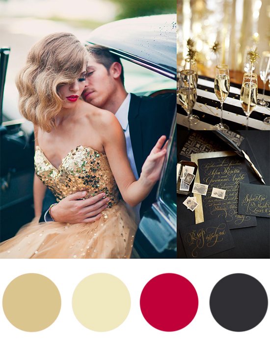 Christmas Colour Palette Gold and Black Christmas Colour Palette Gold & Black
