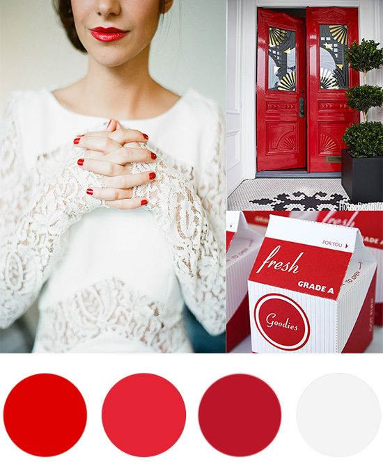 Christmas Colour Palette White and Poppy Red