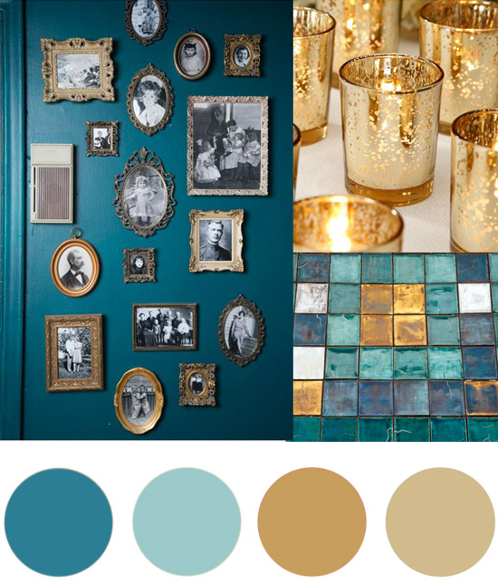 Christmas colour palette teal and gold Christmas Colour Palette Teal & Gold