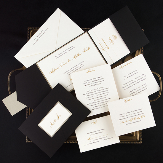 Elegant Pocket Wedding Invitations3 What Would they Know? Shannon Harcourt of Little Flamingo