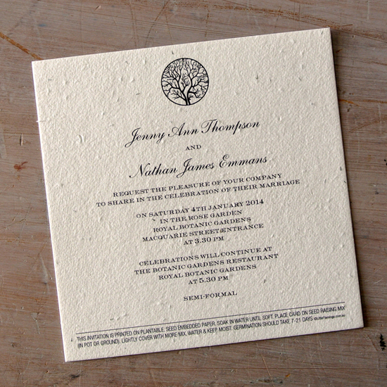 Enchanted Tree Seed Wedding Invitation2 What Would they Know? Shannon Harcourt of Little Flamingo