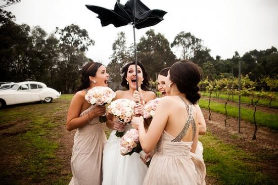 Rain DG 2 550x366 A Rainy Wedding Day