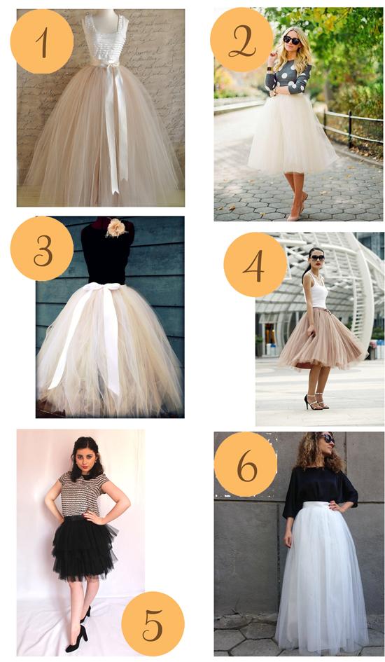 Tulle Skirts Etsy Roundup Tulle Skirts