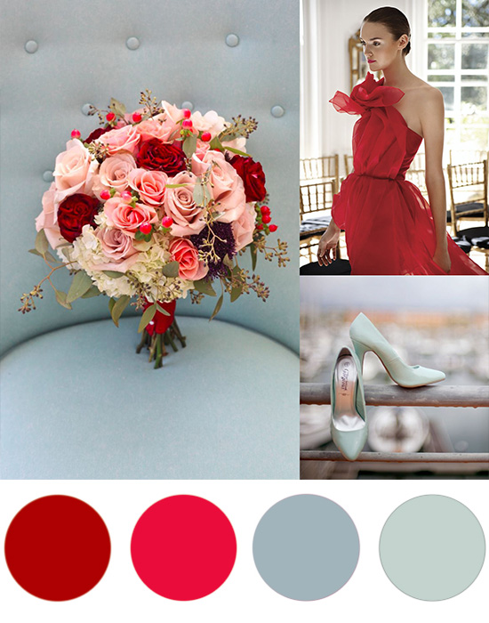 cherry red and blue Christmas Colour Palette Cherry Red & Blue