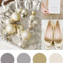 christmas colour palette champagne and silver