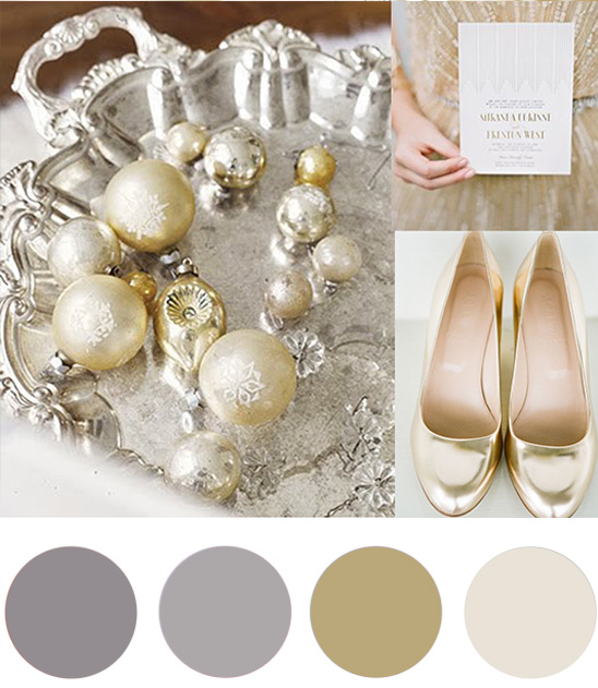 christmas colour palette champagne and silver Christmas Colour Palette Champagne & Silver