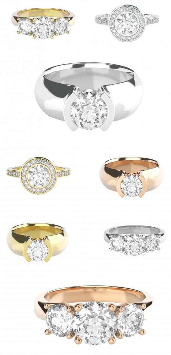 custom engagement rings 550x1138 Custom Engagement Rings From StyleRocks