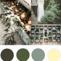 green and gold christmas colour palette