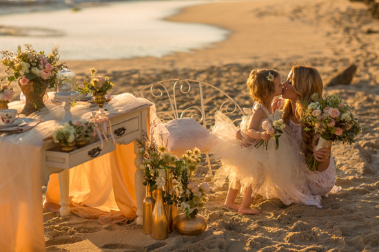 mother daughter beach wedding shoot0022 Mother Daughter Beach Wedding Ideas
