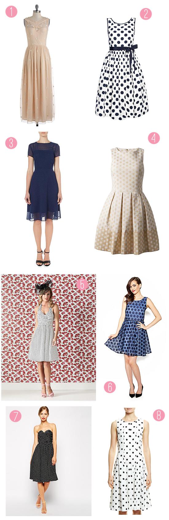 polka dot bridesmaid dress Polka Dot Bridesmaid Dresses