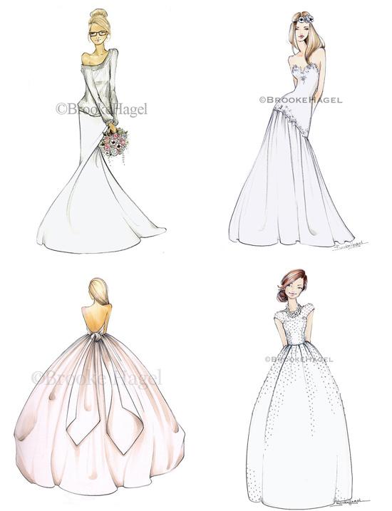 Brooke Hagel bridal illustrations