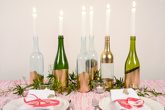 Dipped Bottle Candle Holder Tutorial