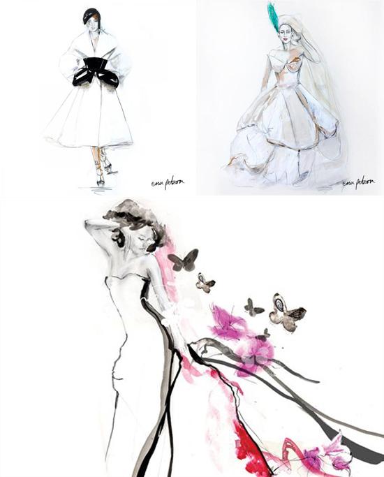 Erin Petson bridal illustrations