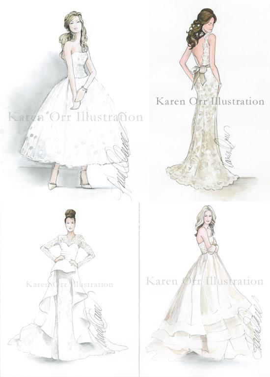 Karen orr bridal drawings