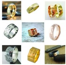 Textured Wedding Rings