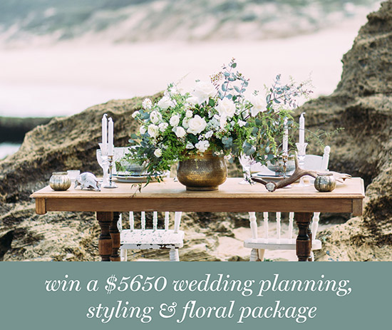 Win A 5650 Styling Floral package Win A $5650 Styling & Floral Package From Miss Mooi Wedding & Events and Wedding & Events Floral Designer, Floretta
