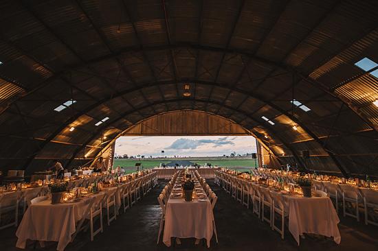 chic air hangar wedding0074
