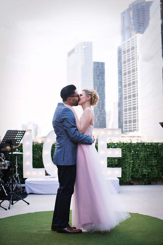 romantic rooftop wedding0041 Ellen and Adams Romantic Rooftop Wedding