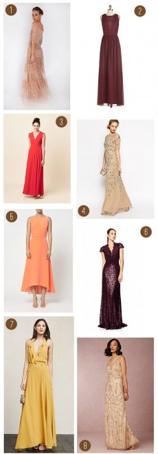 Autumn Toned Bridesmaid Dresses