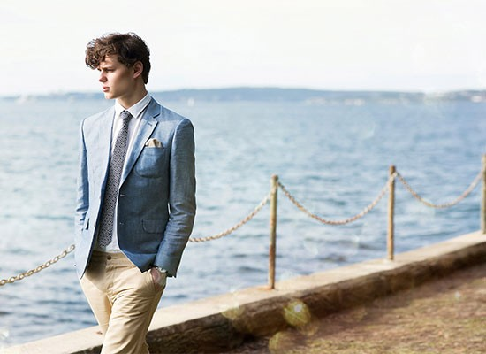 Linen tie and pocket square handmade in Australia for casual beach weddings