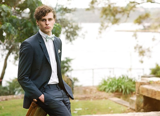 Huxby mint green bow tie for grooms