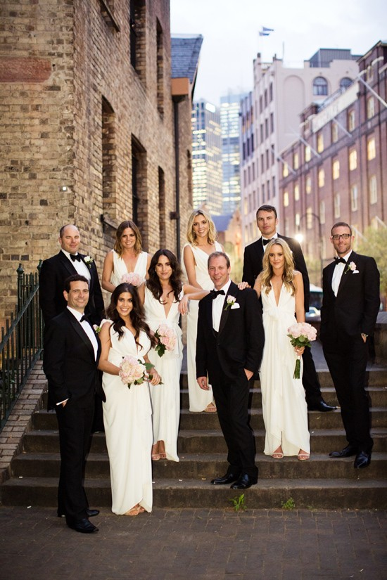 elegant black tie wedding0106