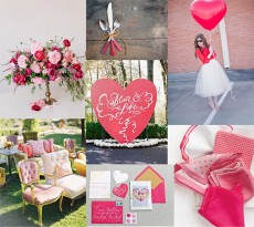 red and pink valentines wedding inspiration
