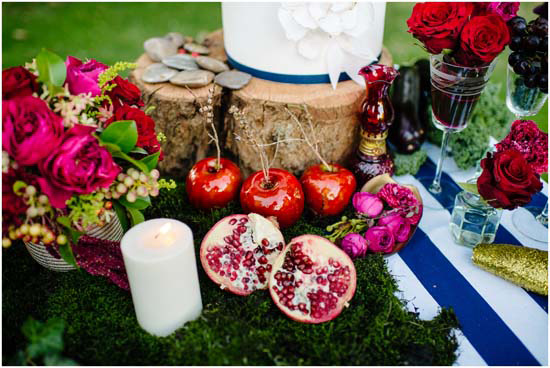 red gold navy wedding ideas0040