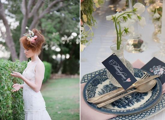 vintage blue china wedding inspiration0110