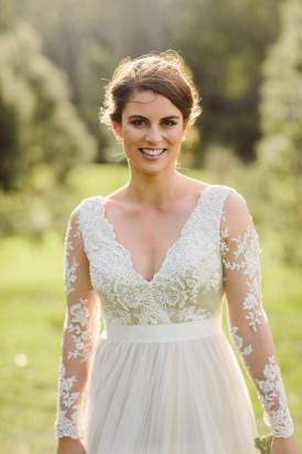 Bride in Winter wedding Dress