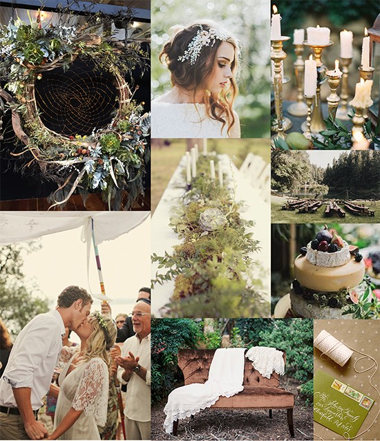 bohemian botanical wedding
