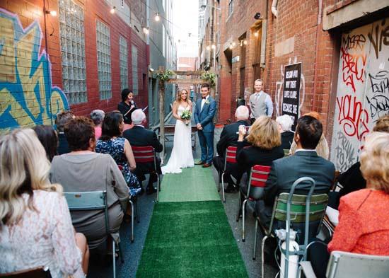 city laneway wedding0037