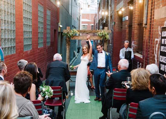 city laneway wedding0042