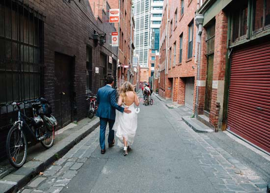 city laneway wedding0049
