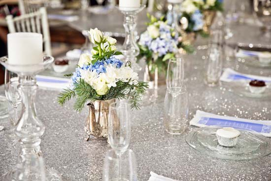 sparkling silver bridal shower ideas0007