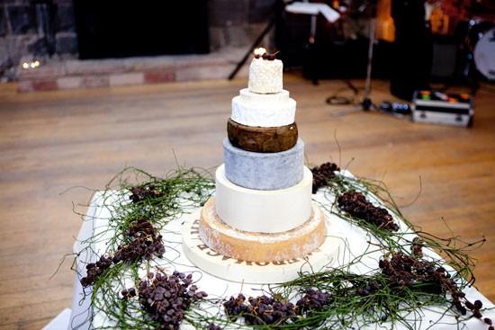 cheese wheel wedding cake
